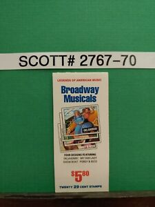 SCOTT-2767-70-BROADWAY-MUSICALS-BOOKLET-OF-20-29-CENT-STAMPS