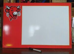 La Vache qui Rit ???? Tableau Feutre Magnétique Panneau bois 40X60cm