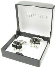 CAR GEAR STICK CUFF LINKS MENS SILVER SHIRT XMAS GIFT BOX NEW UK FREE POSTAGE