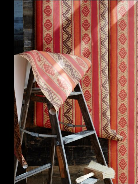 2 Anthropologie Folkthread Wall Paper By Kit Kemp Retails $198.00 NWT