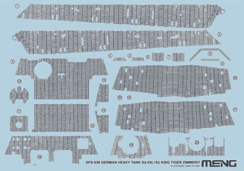 MENG MODEL SPS-039 Zimmerit Decals for Sd.Kfz.182 King Tiger in 1:35