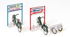 Preiser-17163-Gauge-H0-Bike-Racks-Bicycles-New-Original-Packaging