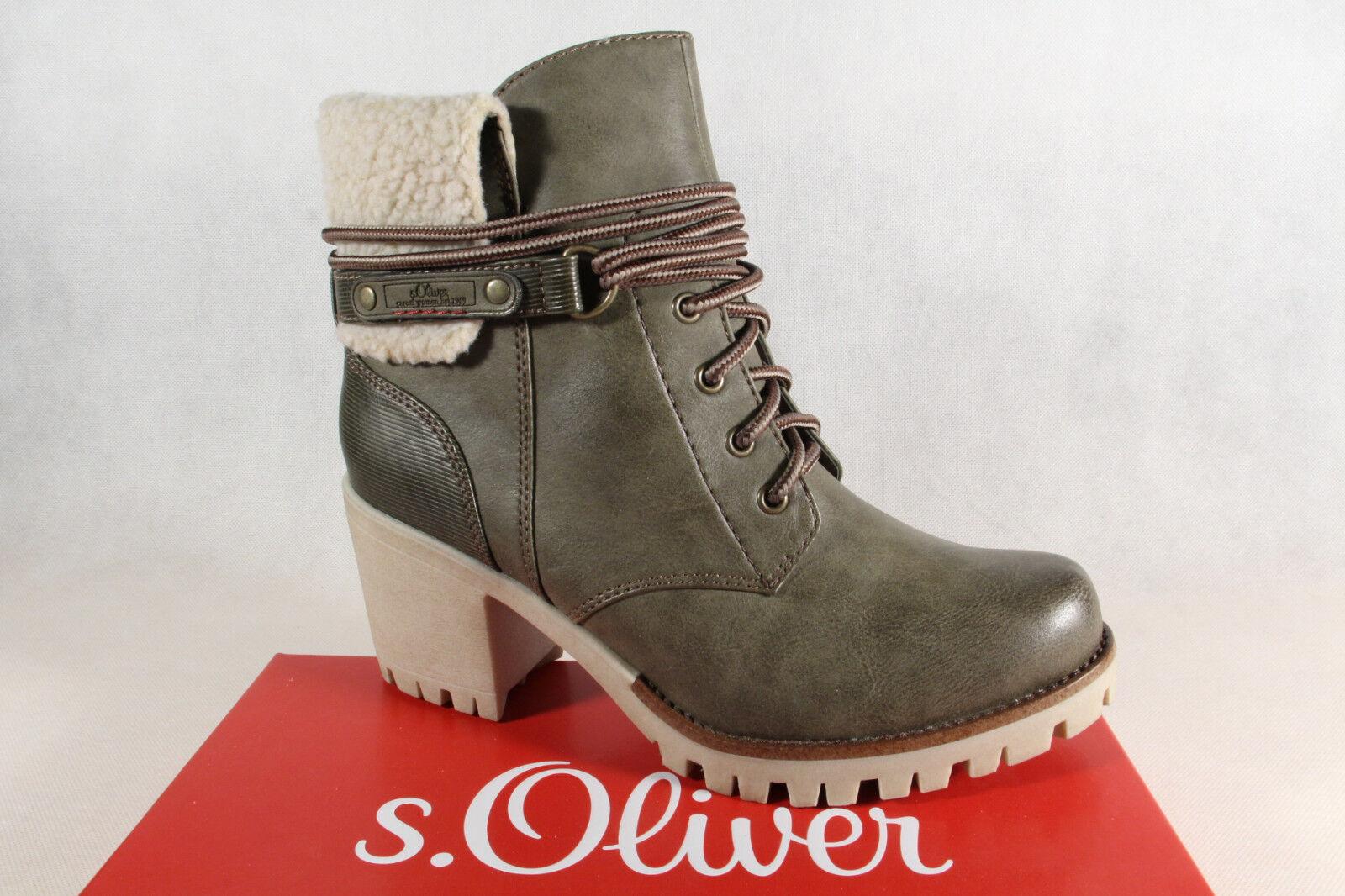 S.Oliver 26115 Stiefel, Stiefeletten Winterstiefel khaki NEU
