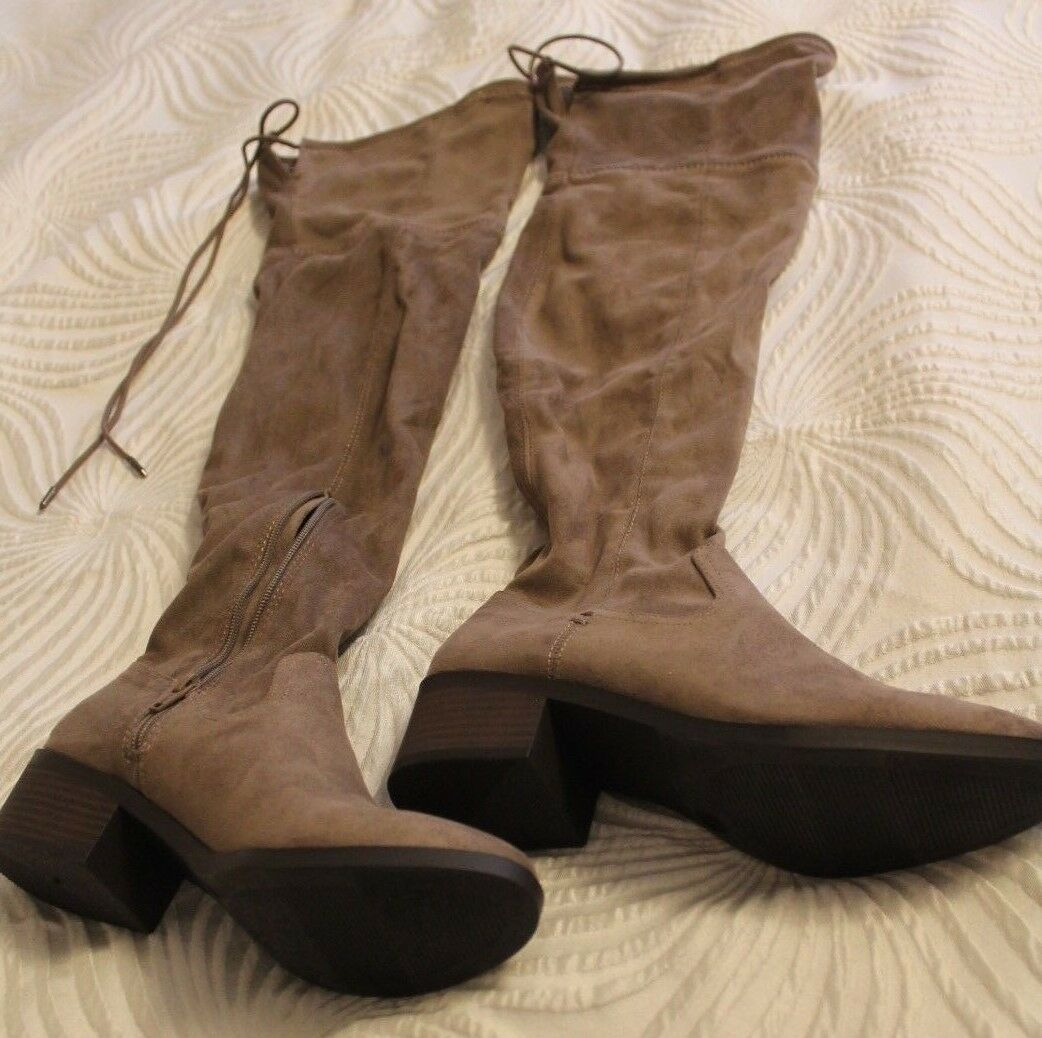 SM New York Cassie Suede Zip boots sz 6 Taupe MSRP: .99 Now: .99