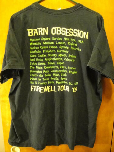 BARN OBSESSION Fantasy Farewell Tour 2009 MSG Wembley Red Rocks