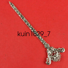 China old Miao silver manual Exquisite noble Sculpture Hairpin flower LQW47