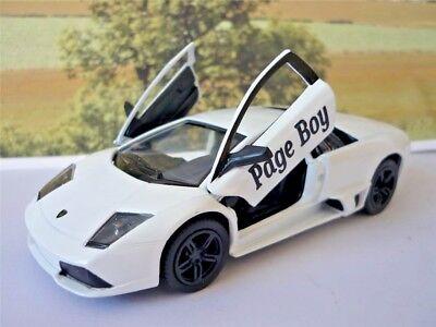 Wedding Day Gift Personalised Page Boy Usher Name Black Lamborghini Toy Car Boy