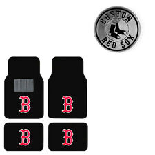 Item 4 New 5pc MLB Boston Red Sox Car Truck Floor Mats U0026 Chrome Emblem Set   New 5pc MLB Boston Red Sox Car Truck Floor Mats U0026 Chrome Emblem Set