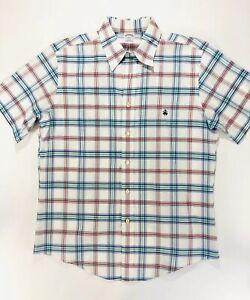 Brooks-Brothers-Mens-Slim-Fit-Polo-Shirt-Supima-Cotton-Plaid-Large