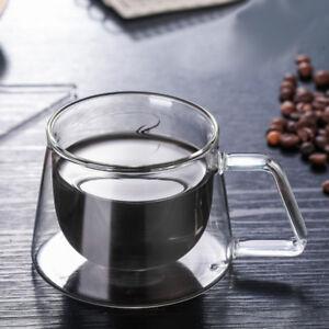 double wall espresso cups double walled image is loading 200mldoublewalledespressocupsclearglasscoffee 200ml double walled espresso cups clear glass coffee tea mugs heat