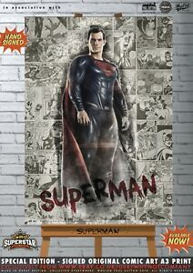 Superman-Henry-Cavill-Justice-League-Comic-SUPERSTAR-A3-Signed-Print