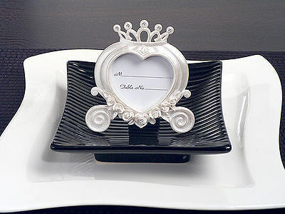 Private Listing 120 Heart Cinderella Coach Place Card Frames for donnastewart84