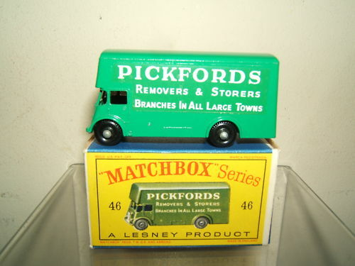 VINTAGE MATCHBOX  LESNEY  MODEL No.46b  PICKFORDS   REMOVAL VAN   MIB