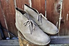 Clarks Suede Desert Boots Tan Beige Mens Size 8.5 M Suede