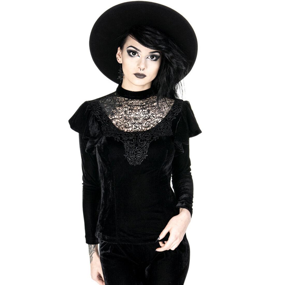 Restyle - Cursed Queen BlauSE - Schwarze Spitze   Abend , Gotik, Elegant BlauSE