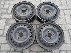 4 Stahlfelgen 5Jx13H2 ET49 Opel Corsa-B