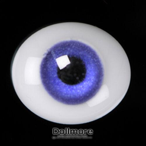 Dollmore BJD OOAK doll glass eyes 8mm Oval Flat Glass Eyes Violet