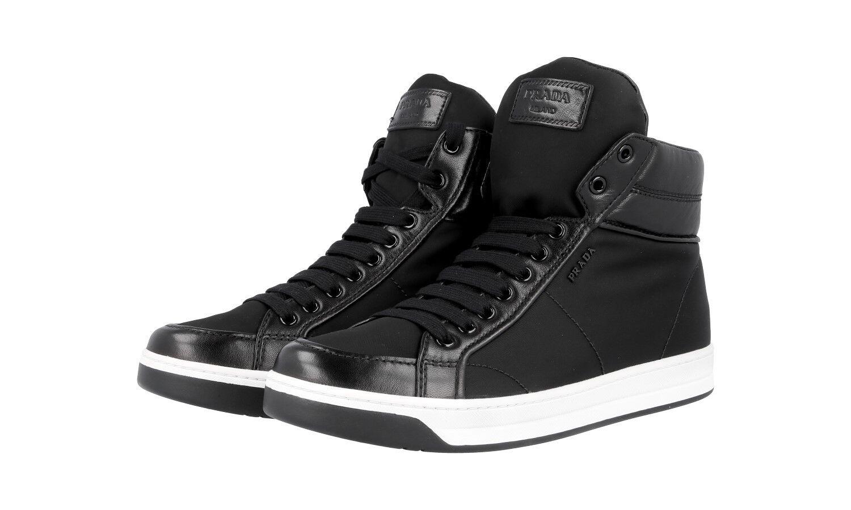 Auténtico de lujo Prada Tenis Zapatos 3T5770 negro nuevo nos 10.5 Reino Unido 7.5
