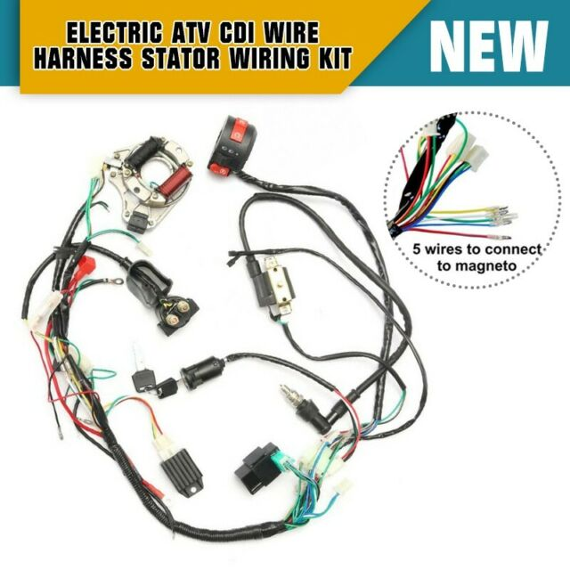 Cdi Wire Harness Stator Assembly Wiring Atv Electric Quad