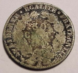 50 Cent 1895 A Cents Centimes Cérès argent 1895 A France