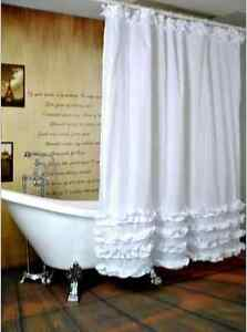 White-Ruffled-Princess-Dress-Design-Bathroom-Waterproof-Fabric-Shower-Curtain