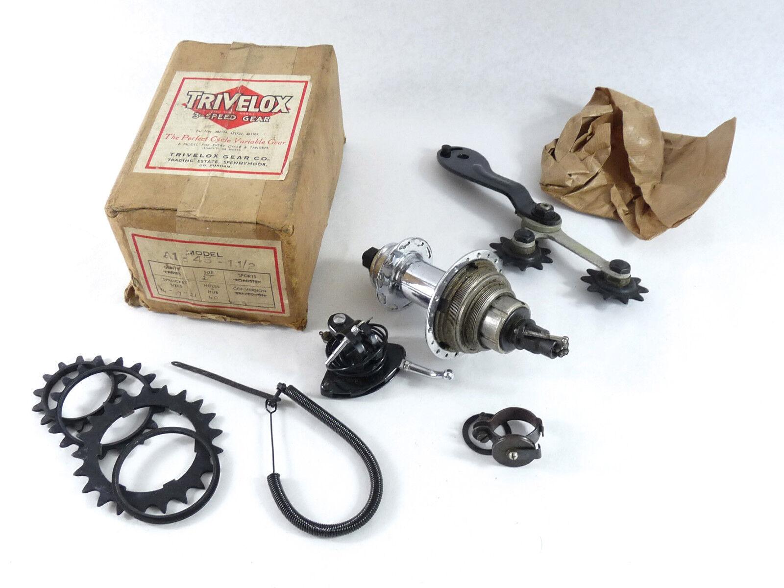 Trivelox Hub & Derailleur Kit 3 speed Model A 1930-40's Vintage Road Bike NOS