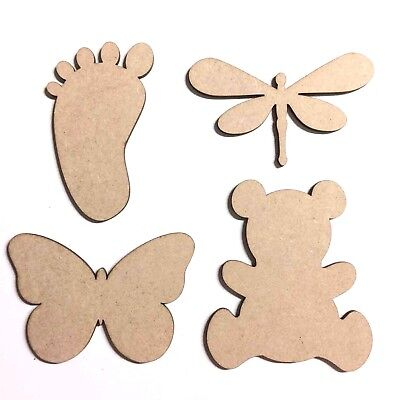 Wooden MDF Intricate Design Butterfly Dragonfly Craft Shapes Embellishments