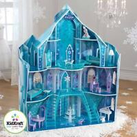 Kidkraft Disney® Frozen Snowflake Mansion Wooden Kids Dolls House Furniture Anna