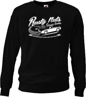 "New /""Rusty Nuts Garage Services/"" t-shirt Austin Healey Frogeye Sprite"
