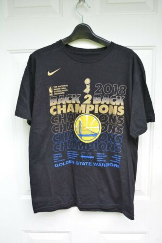 NBA Golden State Warriors 2018 Champions back to b