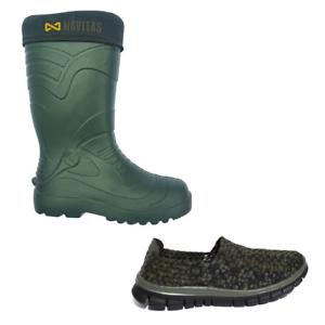 Navitas NUEVO Pesca De  Cochepa Lite Welly Aislado botas De Agua botas + Camo Tejido Slip On  cómodo
