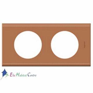 Plaque double matière cuir camel entraxe 71mm Céliane Legrand 69282
