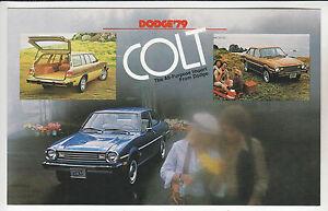 1979-DODGE-COLT-Coupe-Sedan-amp-Wagon-Ad-Card-POSTCARD-Unused-New-Vintage-Stock