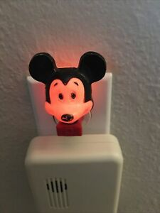 Vintage Disney Mickey Mouse wall plug in Night Light