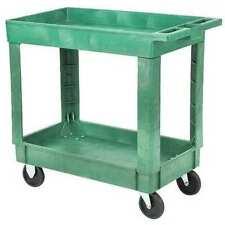 Zoro Select 5utj0 Polypropylene Utility Cart With Deep Lipped Plastic Shelves