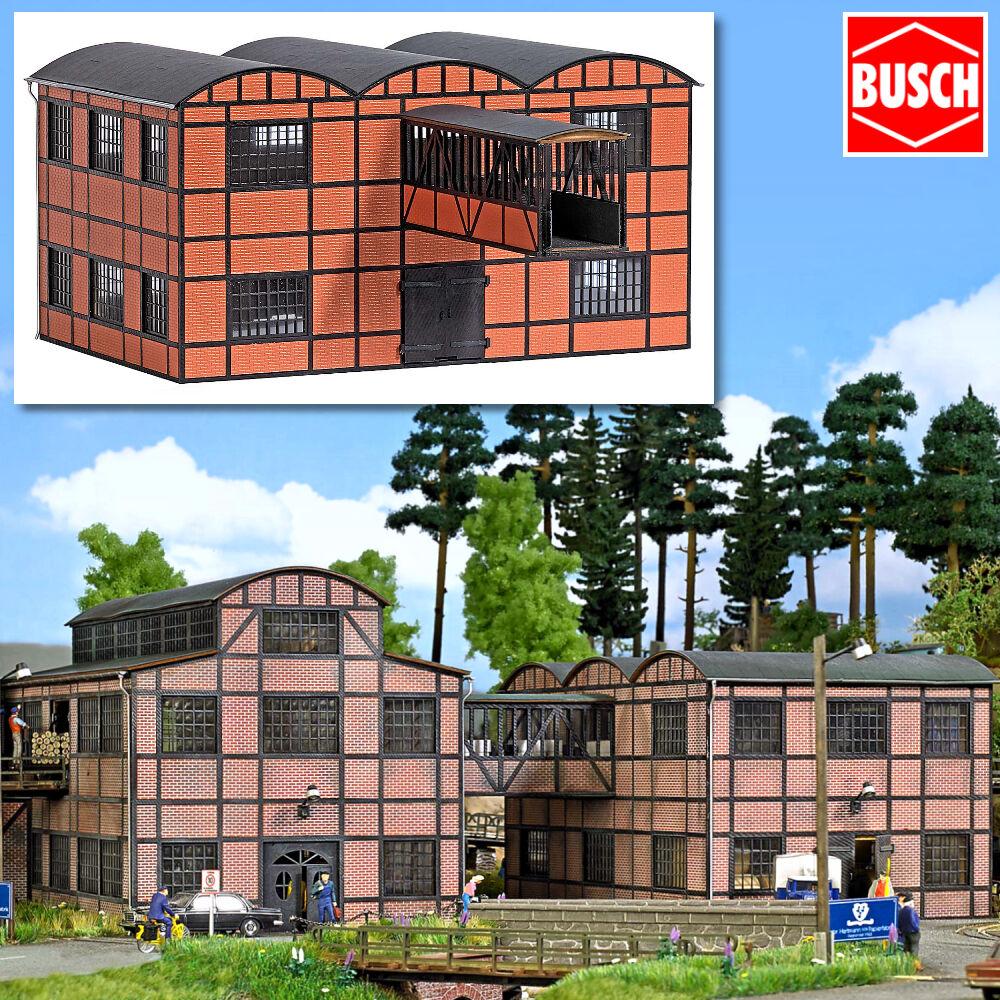 Busch 1558 h0 fabbrica edificio  magazzino Halle con ponte di costruzione  + + NUOVO & OVP + +