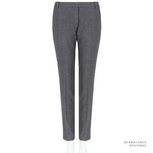 Dries-Van-Noten-Charcoal-Grey-Tailored-Fit-Zipped-Hem-Trousers-Pants-FR38-UK10