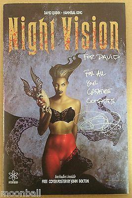 RARE! NIGHT VISION #1 by David Quinn & Hannibal King Signed By JOHN BOLTON