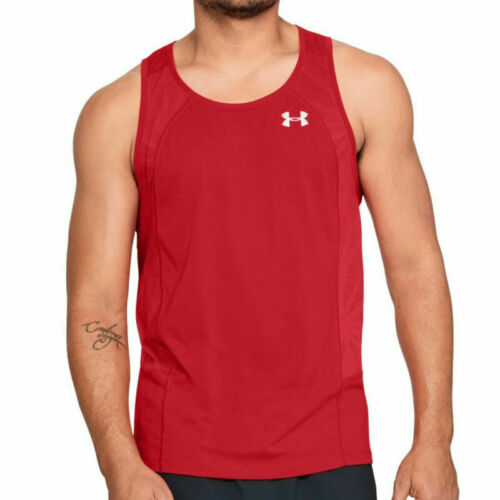 Under Armour UA threadborne Swyft Homme Rouge Gym Sports Running Gilet S