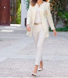 damen blazer jacken weiß ecru