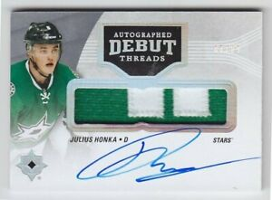 2016-17-UD-ULTIMATE-JULIUS-HONKA-RC-PATCH-AUTO-99-ROOKIE-2C-DEBUT-THREADS-Stars