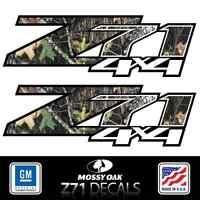 2007 - 2013 Chevy Silverado Z71 4x4 Decals Mossy Oak Camo Stickers Side Bed Hd3