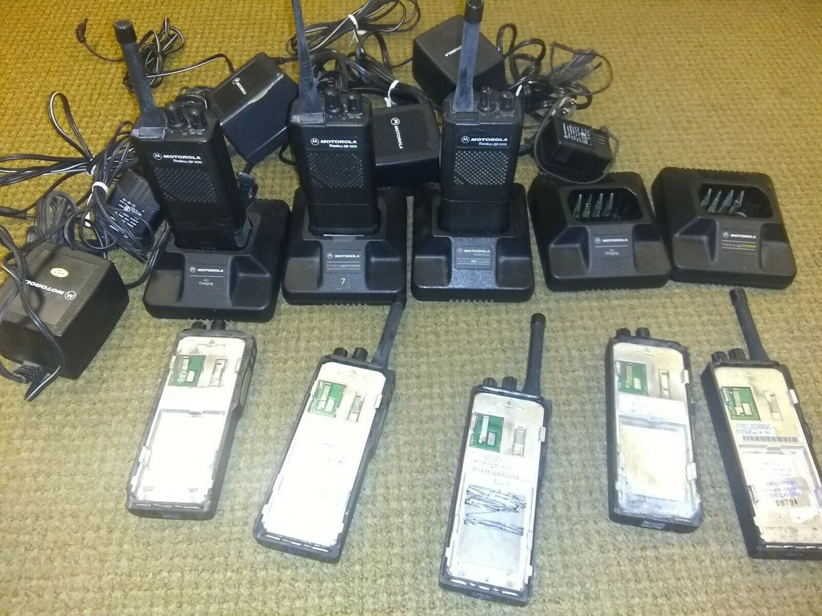 (8) Motorola Radius Gp300 and 5 Chargers( Untested). Buy it now for 65.10
