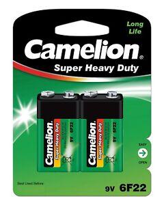 10 x Camelion 9V Block 6F22 Super Heavy Duty Zink Chlorid E-Block Batterie