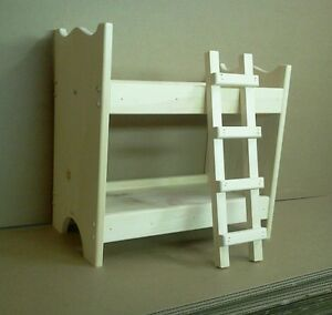 Wooden Doll Bunk Bed Pine Wood Unfinished Hand Made In Usa American