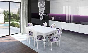 Besprechungs- & Konferenztische Designer Tisch 6 Stuhl Set Garnituren Komplett Wohnzimmer Esszimmer Set 11a Möbel & Wohnen