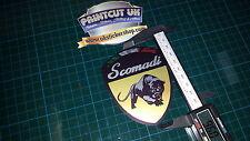 Scomadi Logo Badge Printed Decal Sticker innocenti lambretta mod nos vinyl GOLD