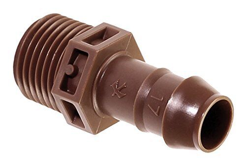 Rain Bird 1//2 In Barb Sprinkler-To-Drip-Adapter Male Pipe Thread x 1//2 In