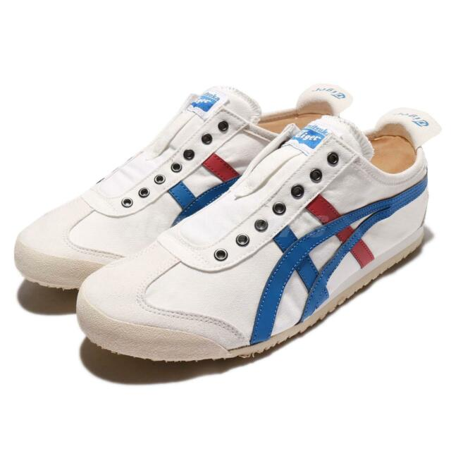outlet store 4e1ca 49ef7 Asics Onitsuka Tiger Mexico 66 Slip-On White Navy Red Men Casual Shoe  TH1B2N0143