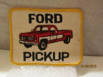 2 Vtg Ford Classic Blue Oval Automotive Dealer Car Cloth Patch New NOS 1970s